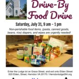 July Canned Food Drive